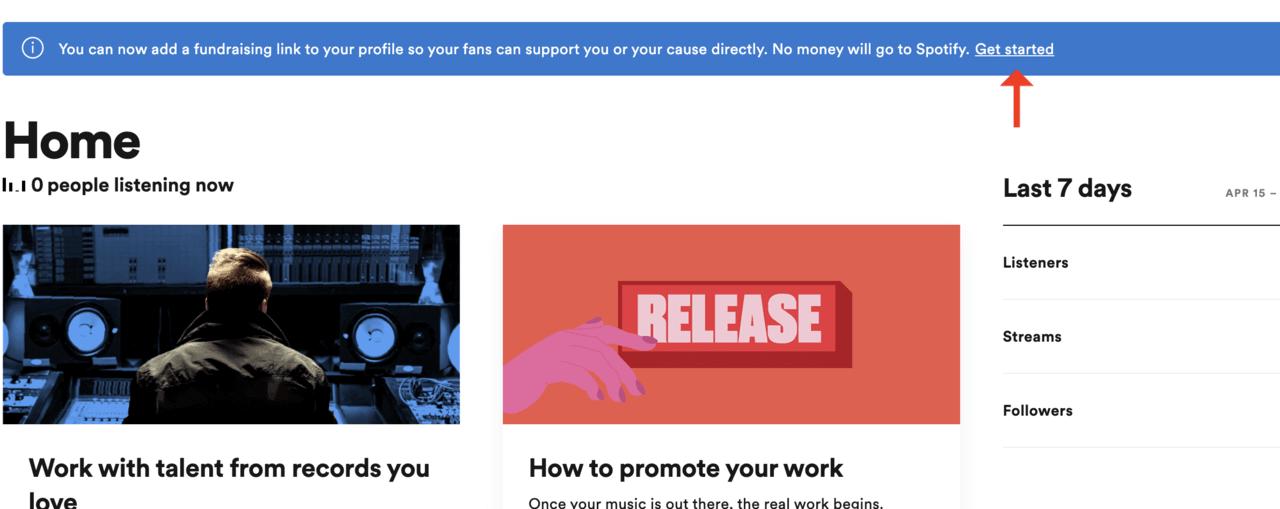 Spotifyのアーティスト向け募金ツール『Artist Fundraising Pick』を設定してアーテイスト自身で寄付を募る方法 | Spotify for Artists