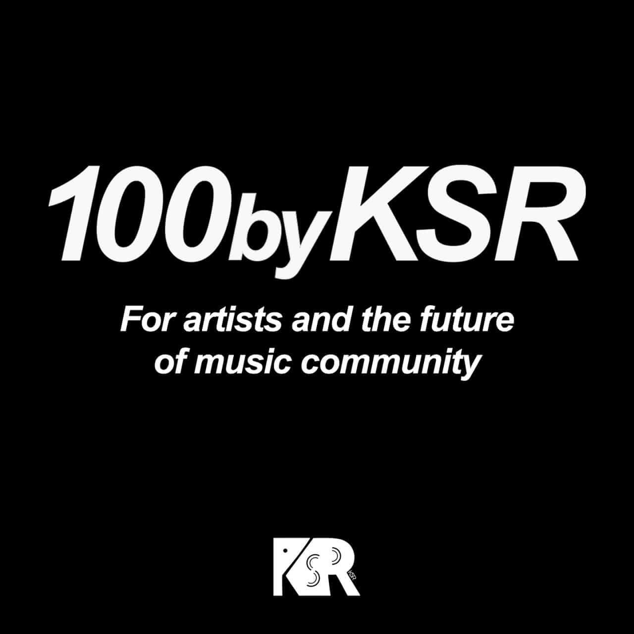アーティスト支援プロジェクト「100byKSR」スタート、採用楽曲に制作費15万円を当月支給