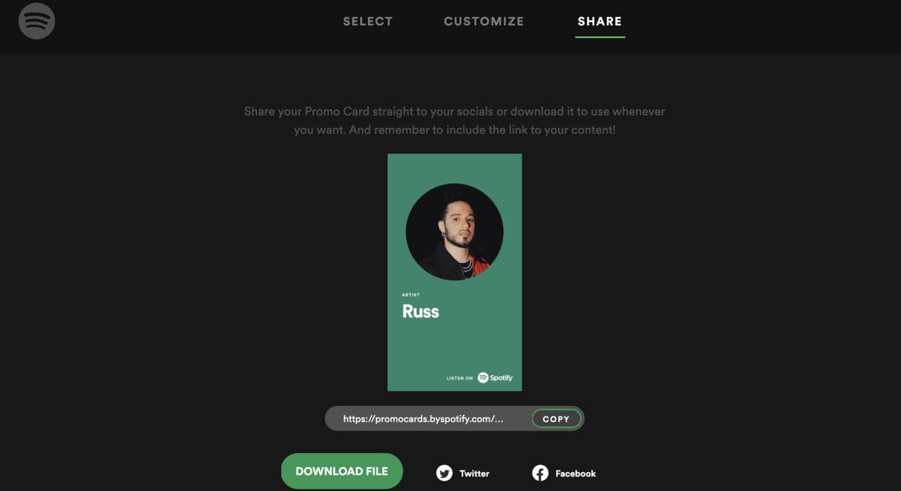 Spotify for Artists の新ツール Promo Cards(プロモカード)の作り方/使い方  音楽プロモーションに活用する