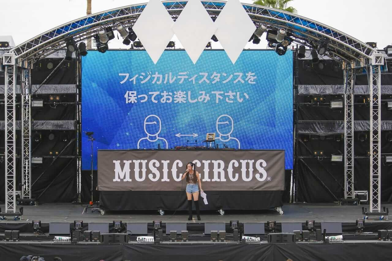 「MUSIC CIRCUS'20」、コロナ禍での野外フェスで感染リスク回避実現